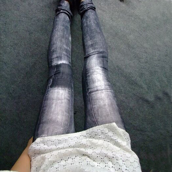 Women's Denim Leggings,Thin Jeans, Casual Denim Leggings 13