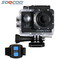 SOOCOO C30 Action 4K Sport Camera With Remote Control NTK96660 Waterproof Wifi Gyro 70 170 Degrees