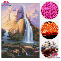 diy 5d beads embroidery full beadwork bead cross stitch embroidery long hair lady kits handarbeiten perlen stickenkraal borduren