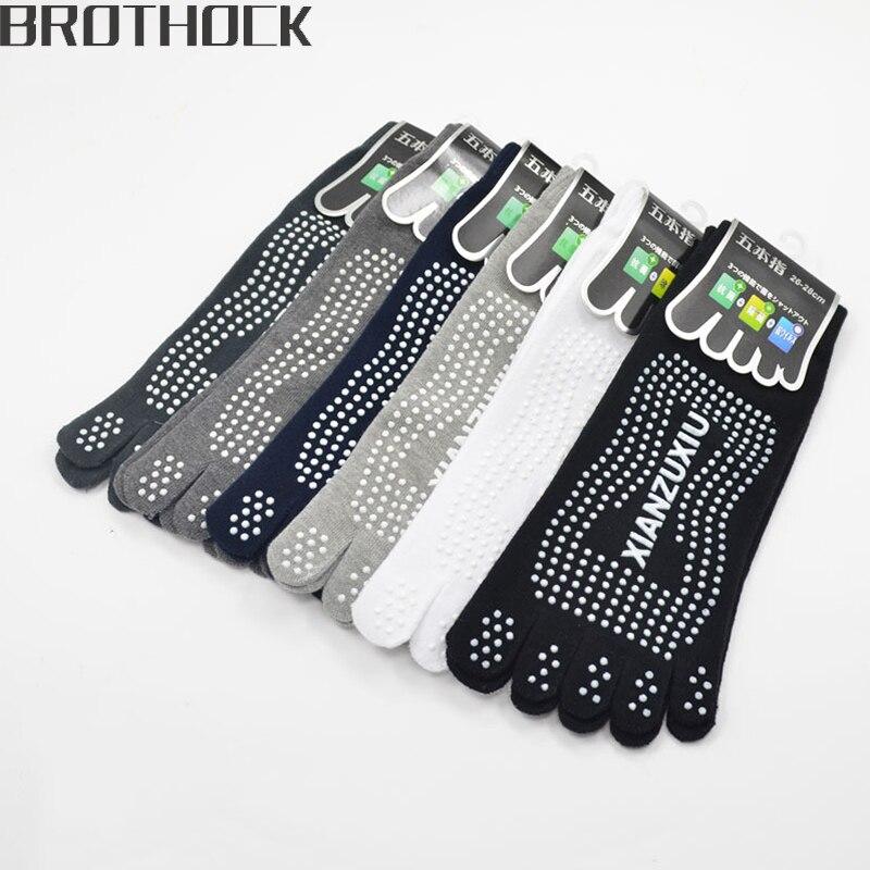 @1  Brothock оптовые Мужчины хлопок дышащий нескользящий массаж Йога носки хлопчатобумажные ЙОГА спортив ✔