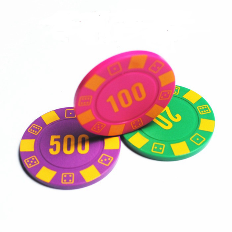 Luxury mahjong machine 4 g ABS club dedicated Texas Hold em chips currency cards custom wholesale