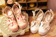 Cosplay Shoes Japanese Lolita Sneakers Shoes Love Sweet Cute Student Princess Bowknot
