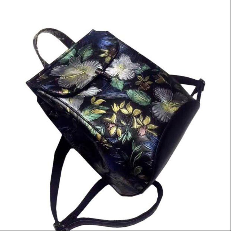 2018 new fashion Exquisite Embossed luxury brand genuine leather backpacks women bags designer backpack floral women backpacks designer luxury women bags fashion genuine leather travel backpacks for women casual original backpack streetwear backpacks