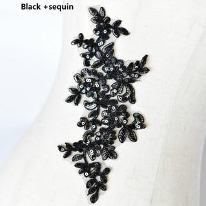 Image 4 - Colors Ganza Emboridered Corded Wedding Large Lace Applique for Bridal Dress Lace Trim Applique