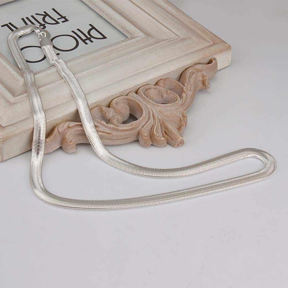 6MM 16-30 cali miękki łańcuszek wężykowy z kości naszyjnik dla kobiet i mężczyzn biżuteria posrebrzany Smoooth Chain Mens cena hurtowa