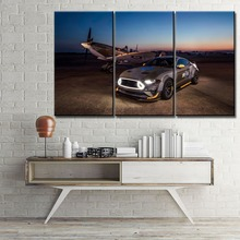 Modular Pictures Canvas HD Prints Type Home Decorative 3 Pieces Car Ford Eagle Squadron Mustang GT Wall Painting Artwork