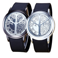Hot Fashion Couple Touch Screen Circular Pattern Silicone Band LED Wrist Watch Drop Shipping Y7106*