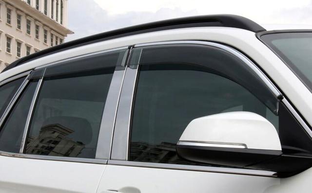 Для BMW X1 E84 2009-2015 Окно visor отражатель планки Экстерьера Автомобиля Украшения Автомобиля для укладки