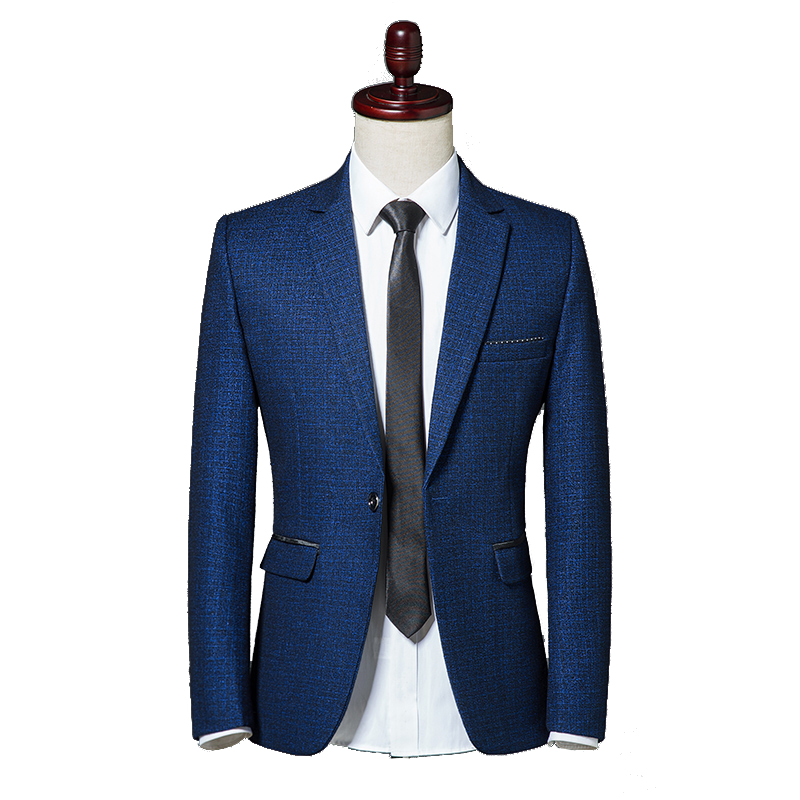 2018 Autumn Classic Men Self-cultivation Leisure Blazer Single Button Slim Fit Business Casual Jacket Wine Red Navy Blue M-3XL