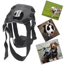 Cámara de acción GoPro Accesorios Dog Fetch Arnés de La Correa de Pecho Cinturón de montaje para go pro hero 4 3 2 sj4000 wifi deporte cámara
