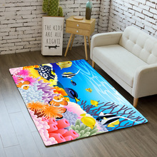 цена на Nordic 3D Print Ocean Dolphin Area Rug tapete Non-Slip Mat Large Rug Soft Flannel Carpet for Livingroom kid Bedroom Home Decor