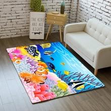 Nordic 3D Print Ocean Dolphin Area Rug tapete Non-Slip Mat Large Rug Soft Flannel Carpet for Livingroom kid Bedroom Home Decor цена в Москве и Питере