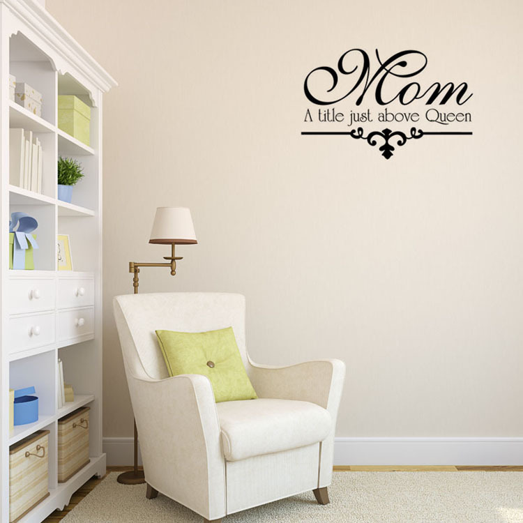 Free Shippingdiy Wall Decals Mom A Title Just Above Queen Home Decor Vinyl Wall Art Decal