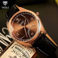 YAZOLE Rose Gold Fashion Quartz Watch Men Watches Top Brand Luxury Male Clock Business Mens Wrist