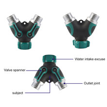 New 1 set Water Kits 3/4 inch Thread Straight Y Shaped 4 Way Connectors Garden Irrigation System Fittings(China)