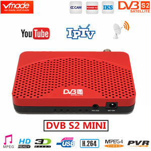 Image 1 - Vmade América del Sur DVB S2 receptor de satélite Digital H.264 caja de TV HD DVB S2 MINI sintonizador de TV apoya Youtube IPTV CCCAM receptores