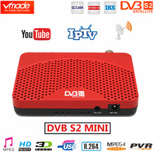 Vmade américa do sul DVB S2 receptor de satélite h.264 caixa tv digital hd dvb s2 mini tv sintonizador suporta youtube iptv cccam receptores