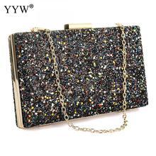 Trenadorab Solid Womens Clutch Bag Diamonds Chain Leather Women Envelope Evening Party Female Clutches Handbag