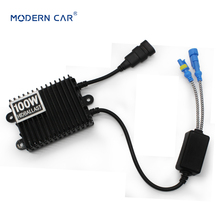 цена на MODERN CAR Slim HID 100W Xenon Replacement Electronic Digital Conversion Ballast Black Hid Xenon Ballast For 9005 9006 H1 H4 H7