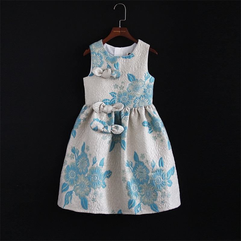 цена на Spring Summer mother and daughter customized Performance clothes children bebe 6M-16Y women 4XL mom Girl Jacquard formal Dresses