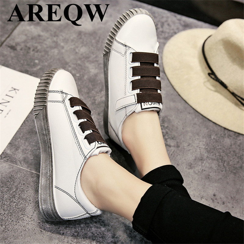 Women 's shoes Korean women' s pants 2017 spring new small white shoes magic stickers shoes large size 35-40 inc new bright white women s size small s tie front button up blouse $59 461