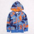 Moda muchacha de los muchachos hoodies de los cabritos del desgaste de los niños sudaderas ropa de bebé chaqueta año nuevo deportes trajes para bebés niños ropa de algodón