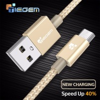 TIEGEM 5V2A Micro USB Cable Fast Charging Nylon 1m 2m 3m Android Mobile Phone USB Charger Cable For Samsung HTC Huawei Sony