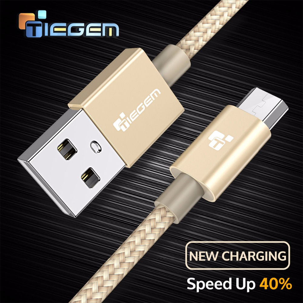Tiegem Micro USB Cable For Samsung Xiaomi Fast Charge USB Das