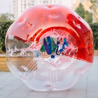 Free Shipping Clear 1.5M TPU Material Inflatable Crazy Footballs Bubble Soccer Air Zorb Ball Human Bubble Ball For Grownup