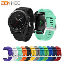 12 colors Soft Silicone Watch Band Replacement wristband bracelet strap for Garmin Fenix 5 Smart 22mm wrist band