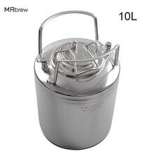 10л нержавеющая сталь замок пивной бочонок свежее пиво бочки для изготовления пива ремесло диспенсер для домашнего пивоварения металлические ручки