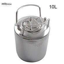 10L stal kulka stalowa blokada keg na piwo świeże piwo dokonywanie beczki dla rzemiosła dozownik piwa domowe warzelnictwo metalowe uchwyty