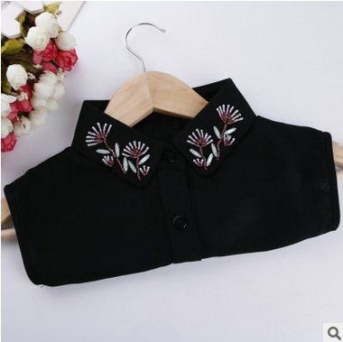 2e2e603c3e Free shipping Handmade beading shirt false collar Women spring and summer  rhinestone lace decoration accessories cravat necklace