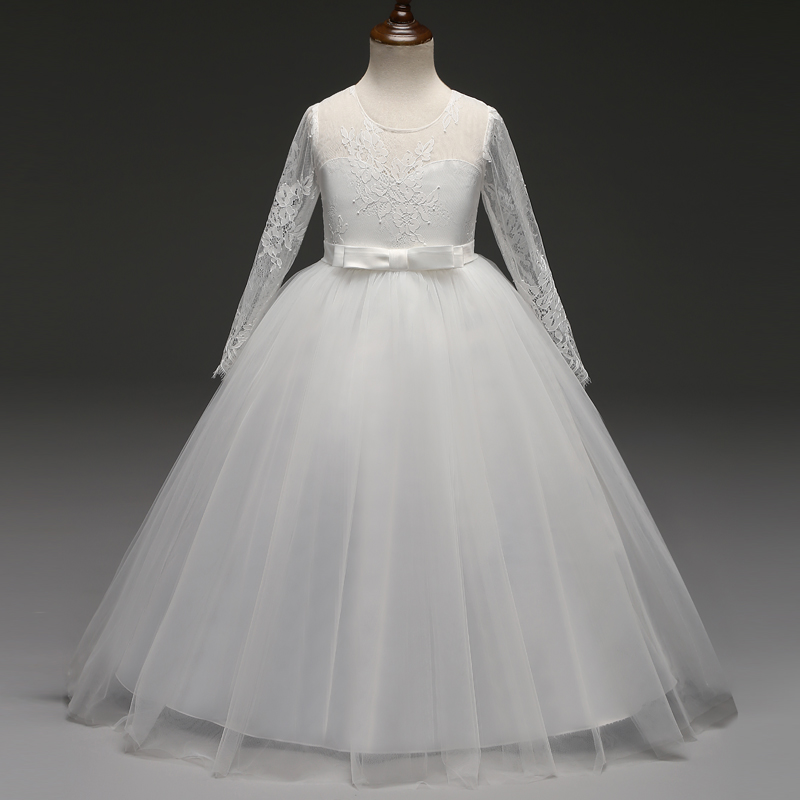 ddcd72dedae80 White Long Girl Party Frock Summer Dress Children's Dress Girls ...