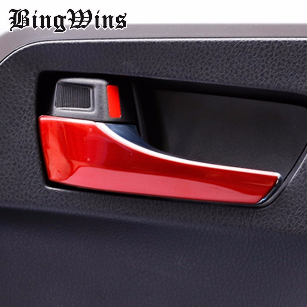 Car styling Door Inner Handle Trim For Toyota RAV4 RAV-4 2014 2015 2016 2017 Interior Handle Covers Trim Car Accessories