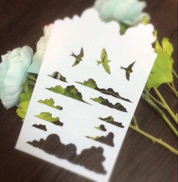 Cloud Seagulls Scrapbooking tool card DIY album masking spray