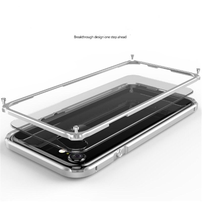 imágenes para Original Ginmic Armadura Tornillo Caja De Aluminio Ultrafino Para el iphone 7 4.7 ''Marco de Metal + PC Claro teléfono contraportada