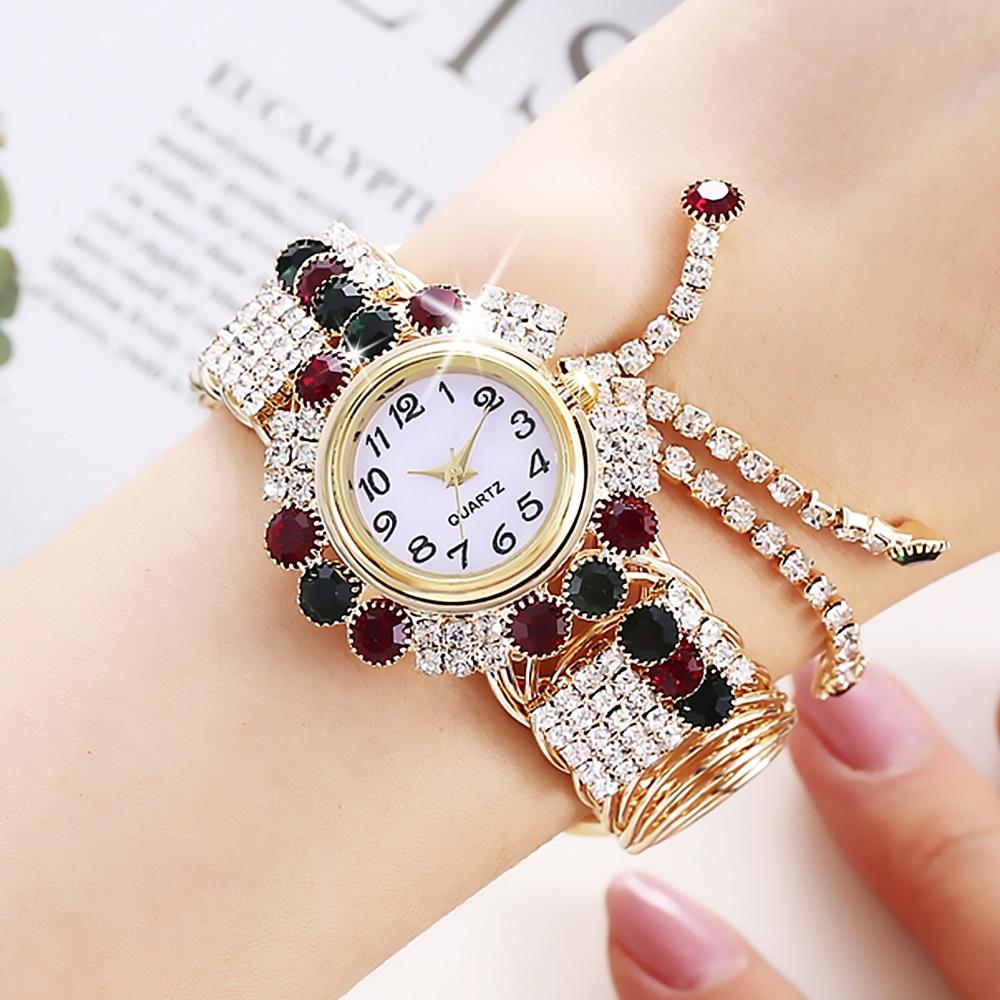 Top SaleBracelet Watch Clock Rhinestone Feminino Top-Brand Mujer Femme Ladies Luxury Reloj Montre