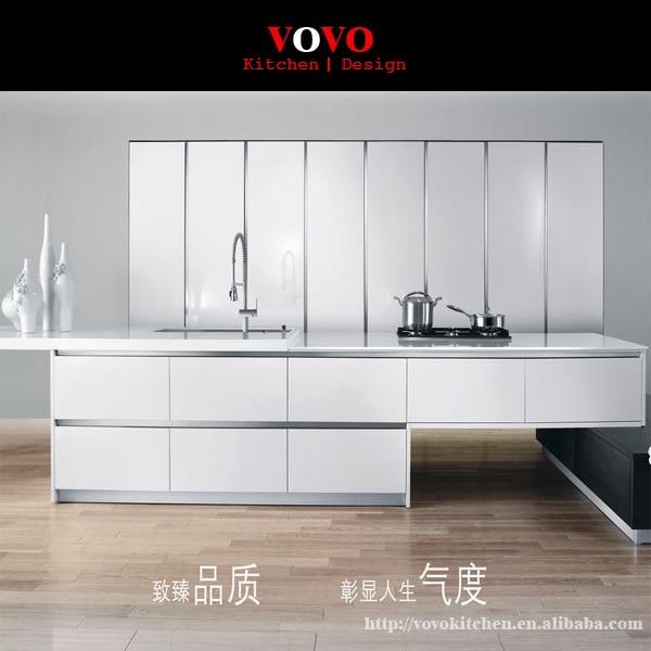 US $2699.0 |Impiallacciato rovere armadio da cucina con il colore bianco  laccato lucido-in Mobili da cucina da Miglioramento della casa su ...