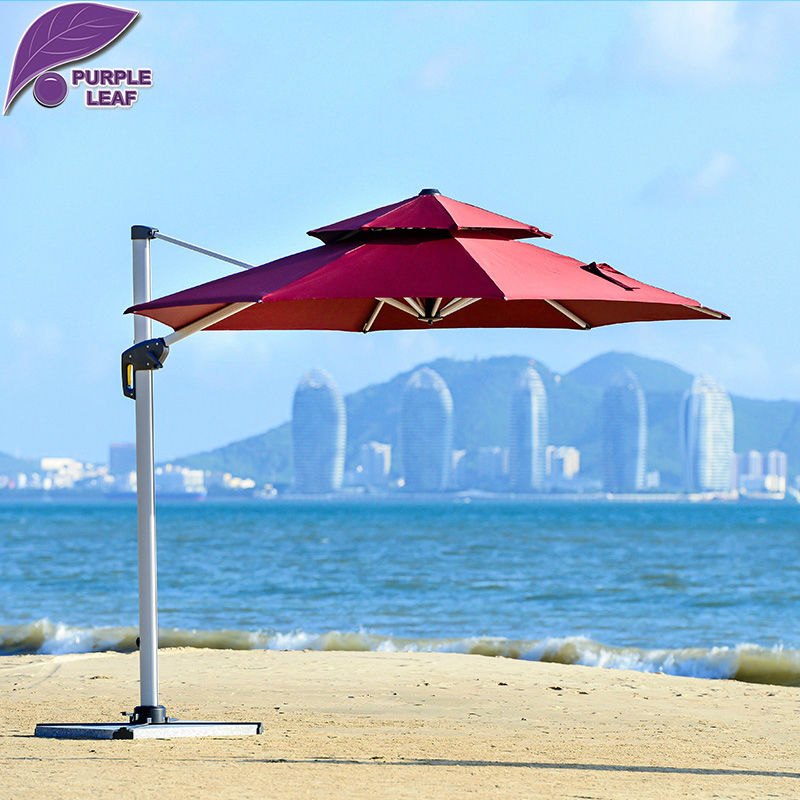 Purple Leaf Patio Umbrella Canopy Outdoor Market Umbrella With Several  Colors Offset Cantilever Jardin Round/Square In Patio Umbrellas U0026 Bases  From ...