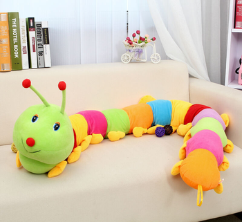 140cm Giant Long Colorful Caterpillar Plush Creative Millipedes Cushion Toy 2019 New Brand  Cushion/pillow Childrens's Toy