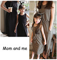 Mom and daughter me Mother matching one -piece Green Dresses clothes Summer clothing spring outfits moeder en dochter kleding