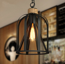 American Country Garden Chandelier Industry Retro Iron Originality Bar Restaurant Rope Chandelier Free Shipping цена