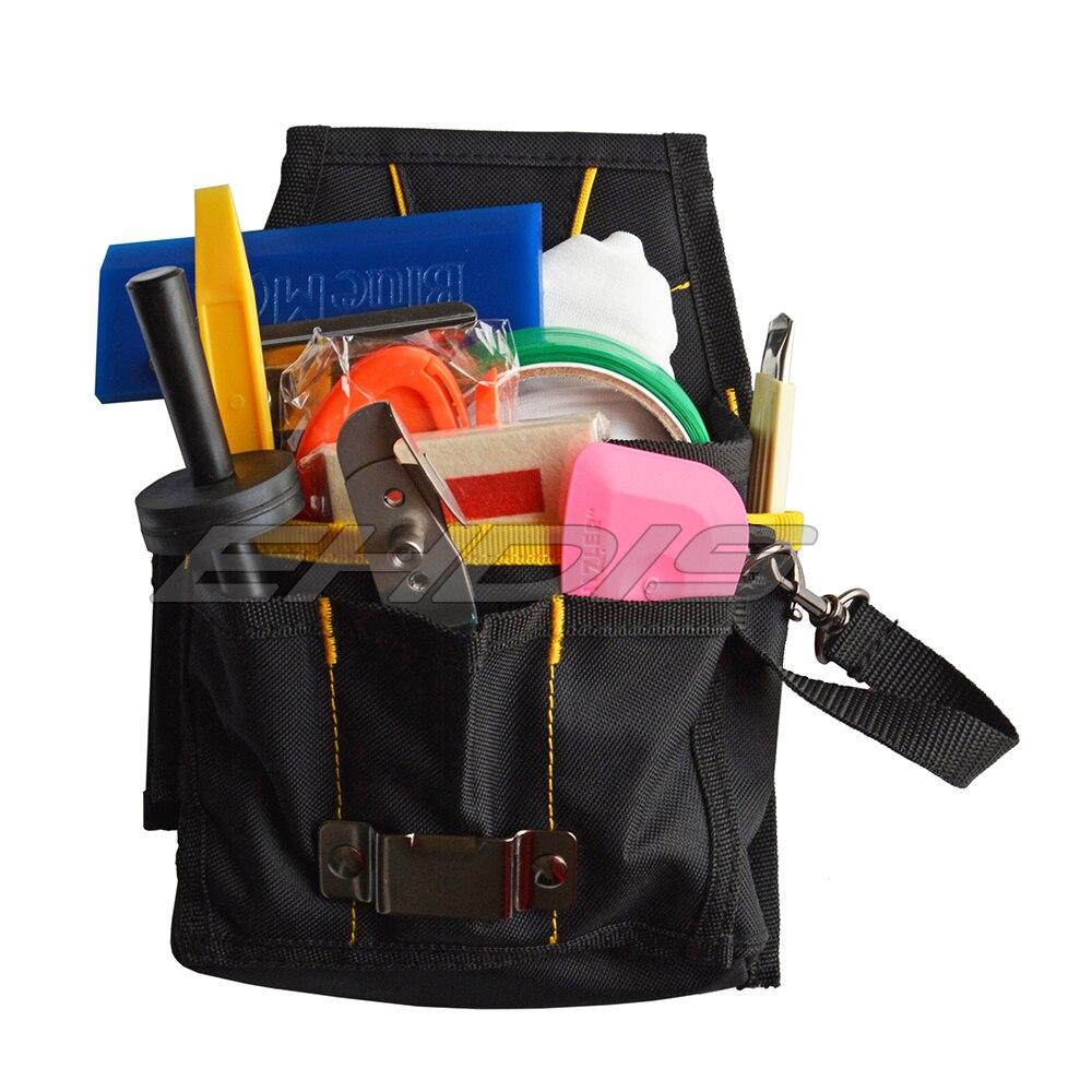 EHDIS Vinyl Tool Kit Bags Car Wrap Film Tool Belt Bag Pouch Utility Gadget Waist Waterproof Bag Oxford Multi Pocket Bag CN032