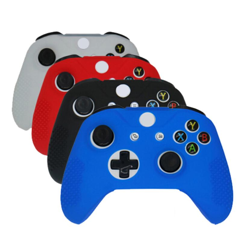 NEW Soft Silicone Rubber Skin Gamepad Protective Case Cover Game Pad Joystick Accessories for Microsoft Xbox One S Controller in Cases from Consumer Electronics