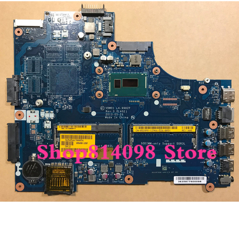 KEFU NEW VBW01 LA-9982P REV:3.0 Fit For DELL INSPIRON 3537 5537 laptop motherboard CN-0D28MX D28MX CELERON 2955U mainboard
