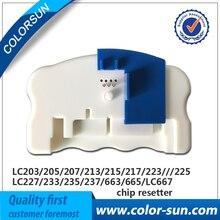 Nueva artridge resetter chip para brother lc203/lc205/lc207/lc209/lc223/lc225/lc227/lc229/lc233/lc235/lc237/lc239/lc663 resetter