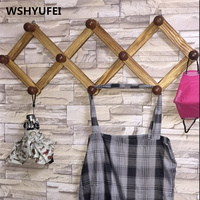 Wall Hooks Decorative Solid Wood Cloak Frame Natural Material Making Hook Clothes Shelves Home Decorations Hooks