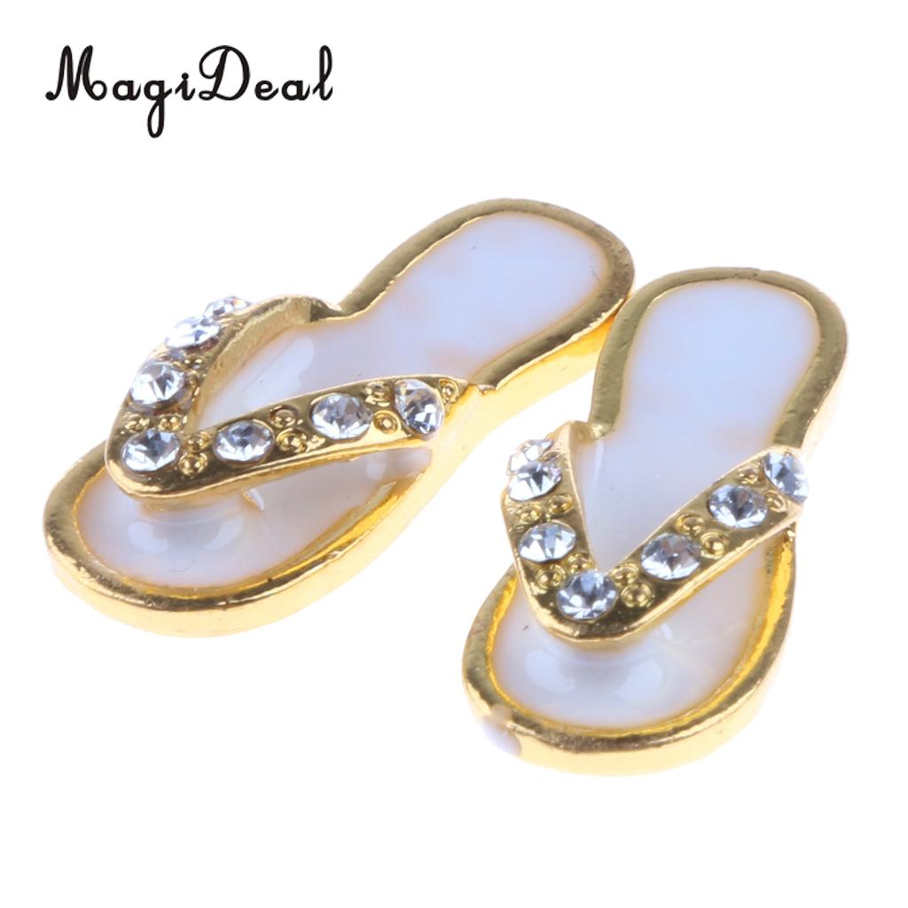 Dollhouse Miniature Pair of Gold Baby Shoes
