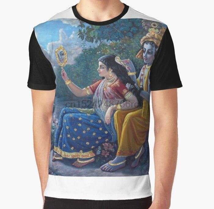46335a82 All Over Print 3D Women T Shirt Men Funny tshirt RADHA KRISHNA Graphic T- Shirt